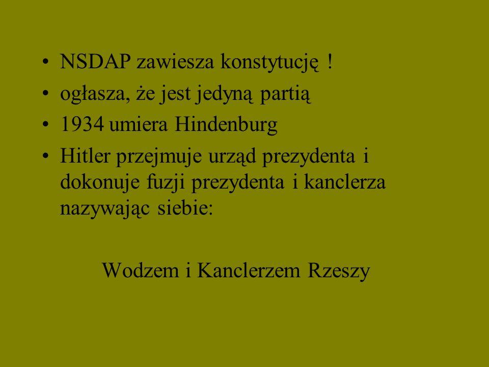 NSDAP zawiesza konstytucję !
