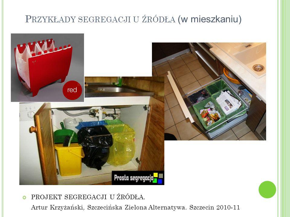 Przykłady segregacji u źródła (w mieszkaniu)
