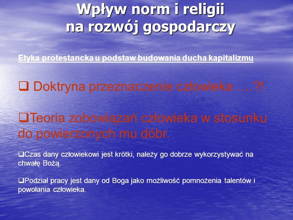 Wpływ norm i religii na rozwój gospodarczy