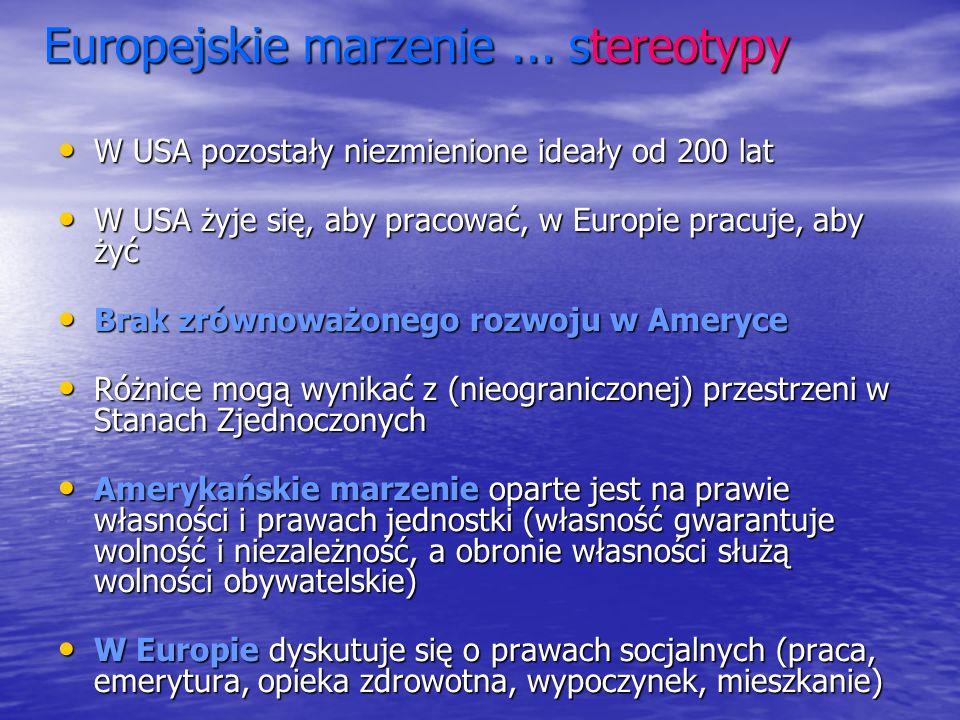 Europejskie marzenie ... stereotypy