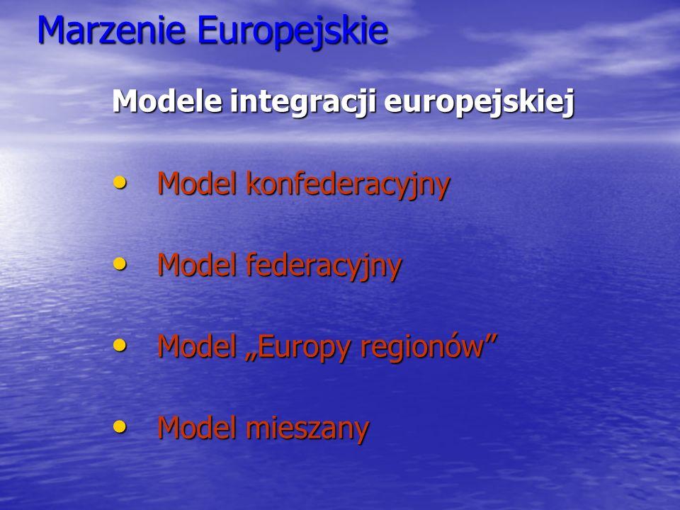 Marzenie Europejskie Modele integracji europejskiej