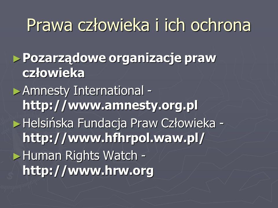 Prawa człowieka i ich ochrona