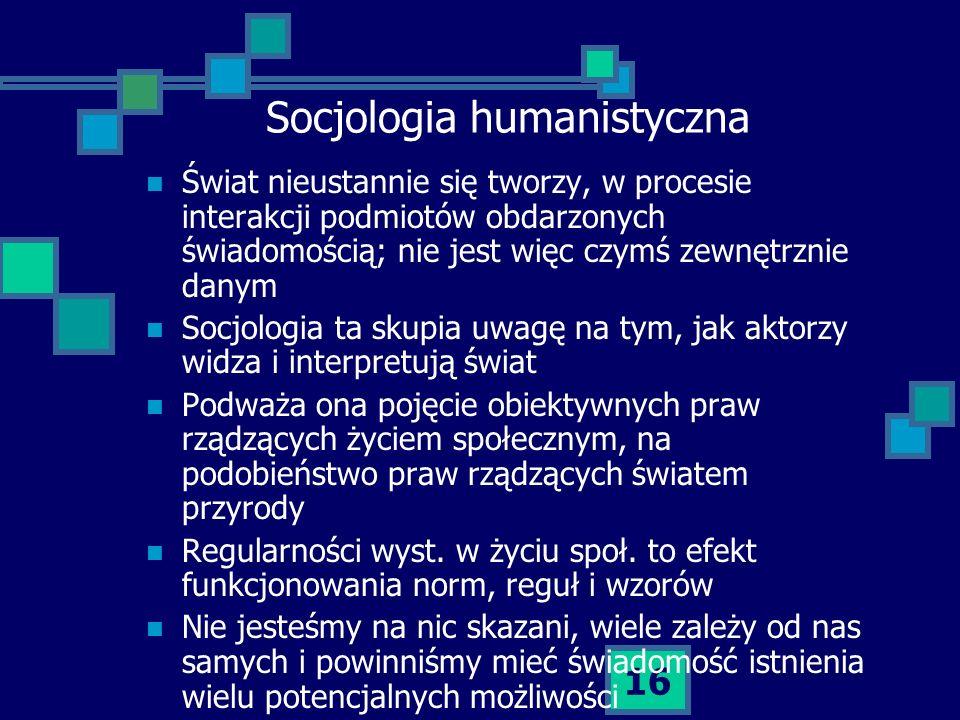 Socjologia humanistyczna