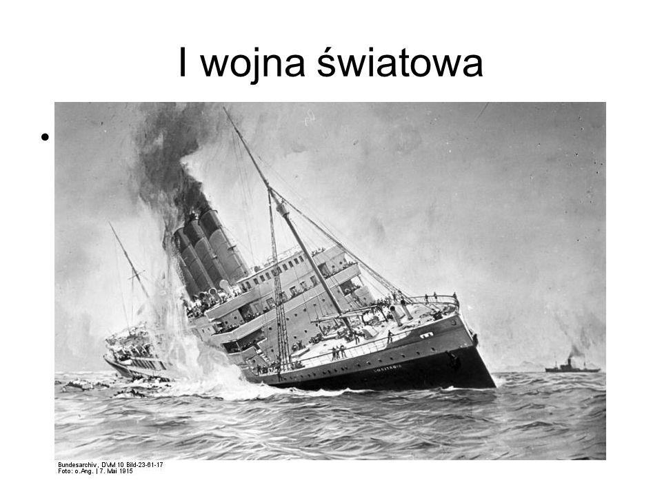 I wojna światowa Zatopienie Lusitanii