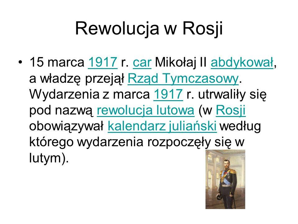 Rewolucja w Rosji