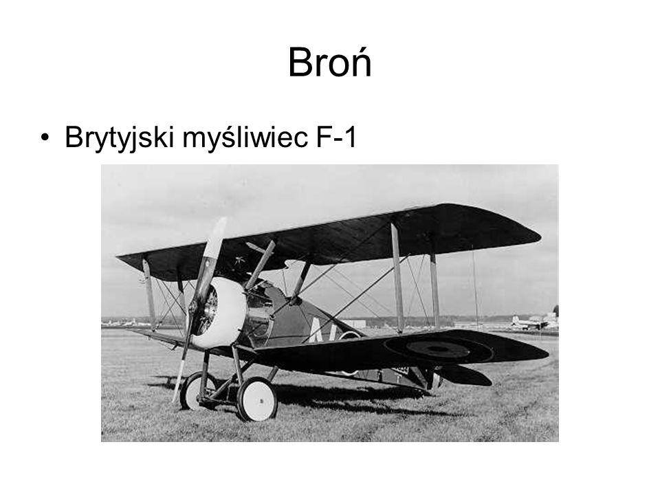 Broń Brytyjski myśliwiec F-1