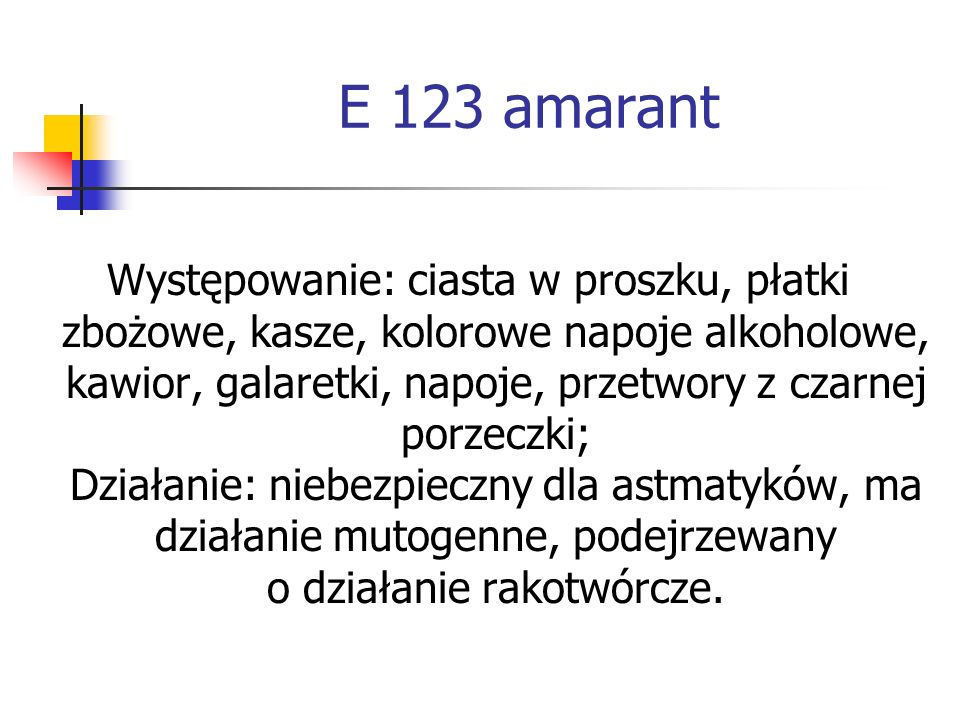 E 123 amarant