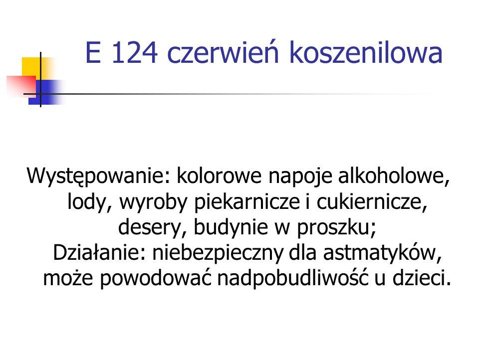 E 124 czerwień koszenilowa