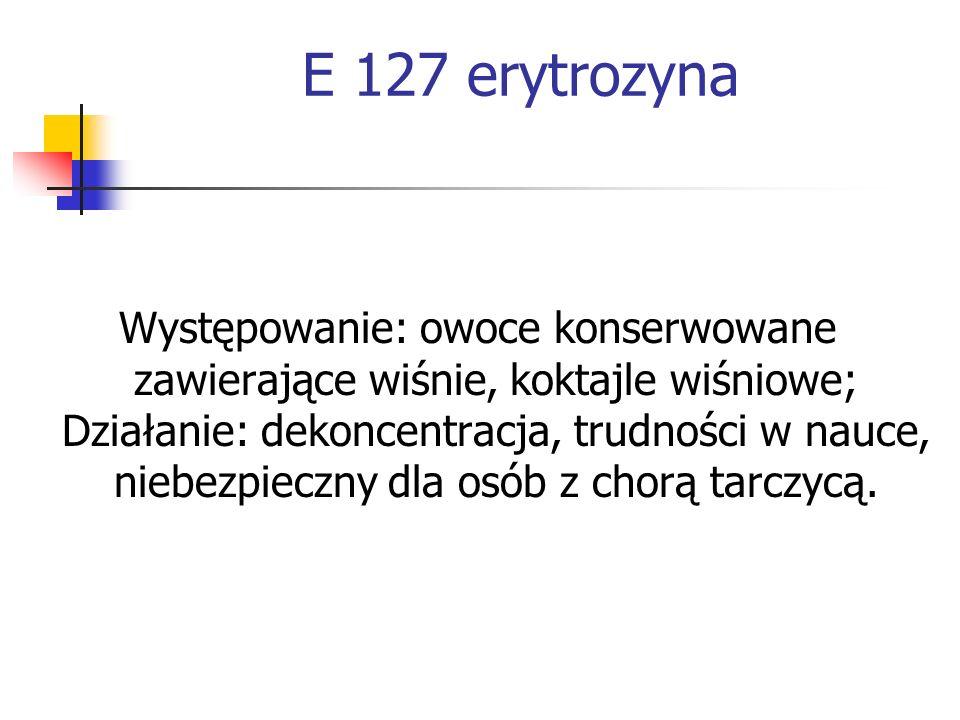 E 127 erytrozyna
