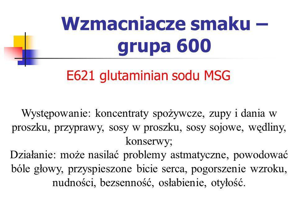 Wzmacniacze smaku – grupa 600