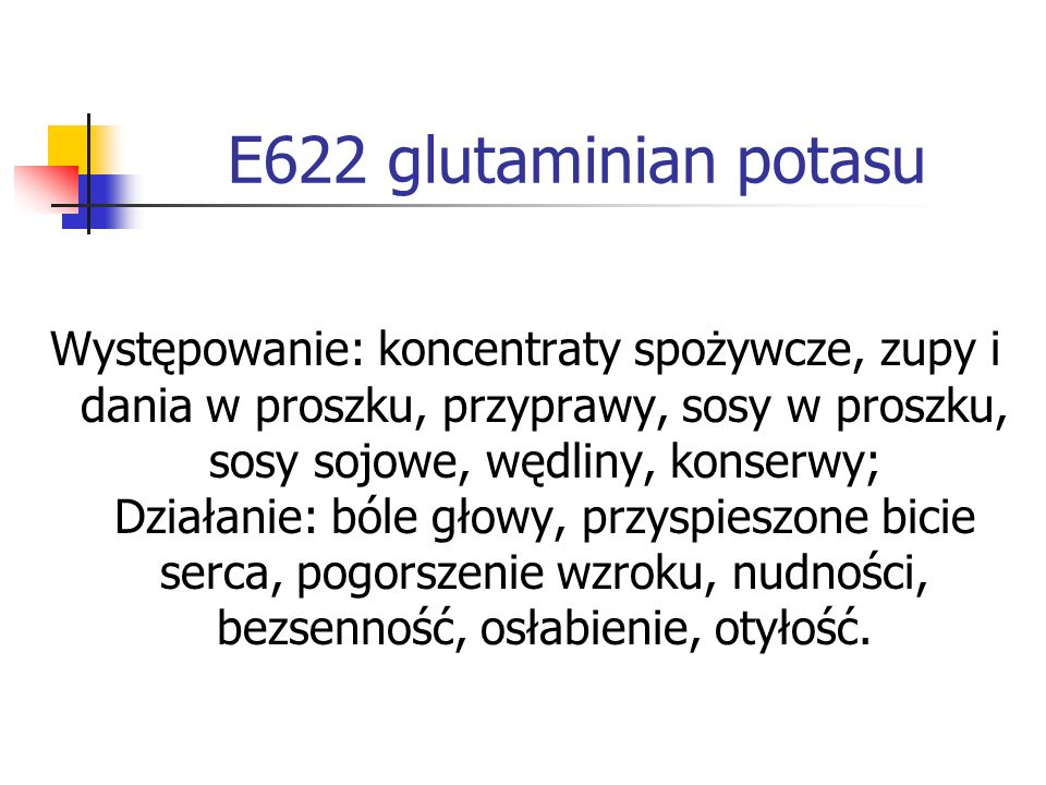 E622 glutaminian potasu