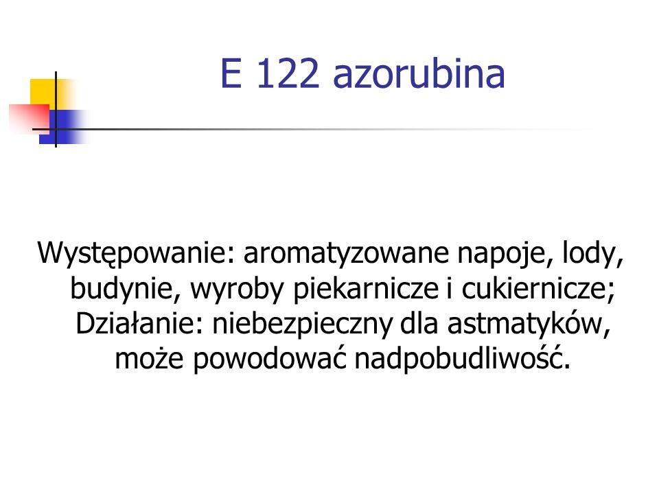 E 122 azorubina