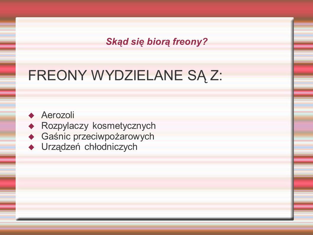 FREONY WYDZIELANE SĄ Z:
