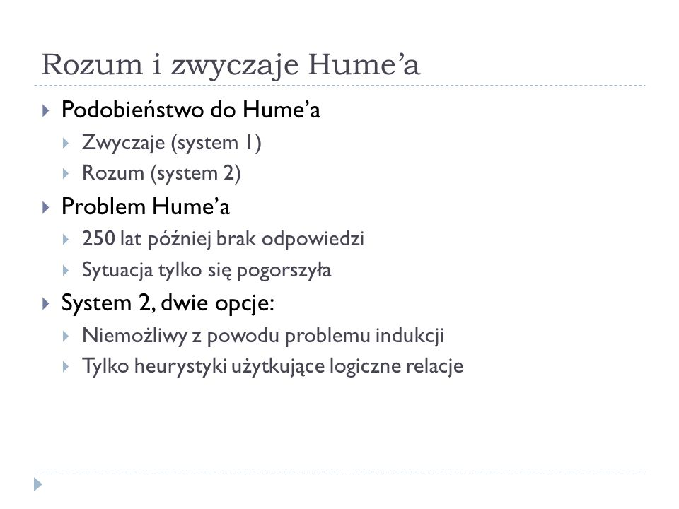 Rozum i zwyczaje Hume'a