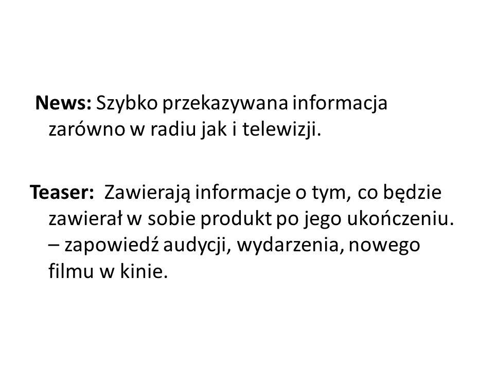 News: Szybko przekazywana informacja zarówno w radiu jak i telewizji