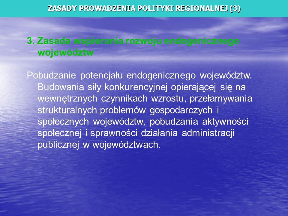 ZASADY PROWADZENIA POLITYKI REGIONALNEJ (3)