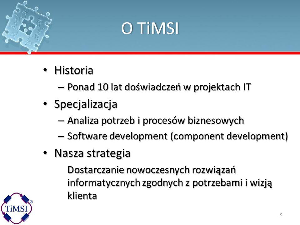 O TiMSI Historia Specjalizacja Nasza strategia