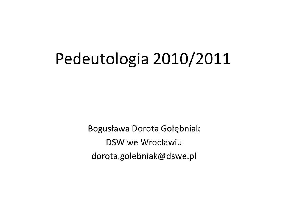 Bogusława Dorota Gołębniak DSW we Wrocławiu dorota.golebniak@dswe.pl