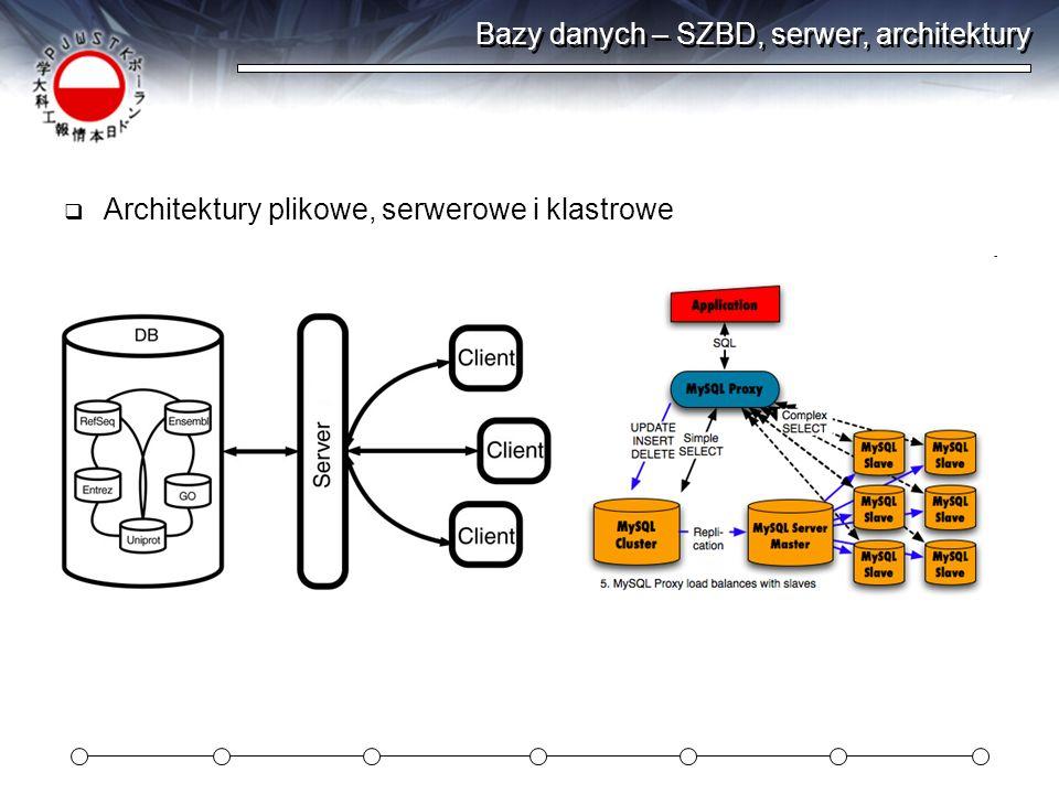Bazy danych – SZBD, serwer, architektury