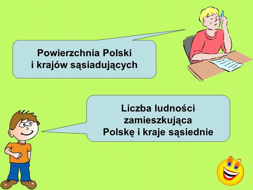 Powierzchnia Polski i krajów sąsiadujących