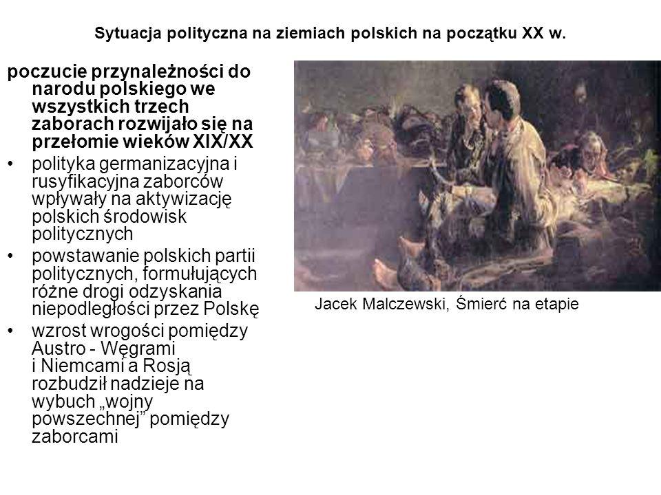 Sytuacja polityczna na ziemiach polskich na początku XX w.