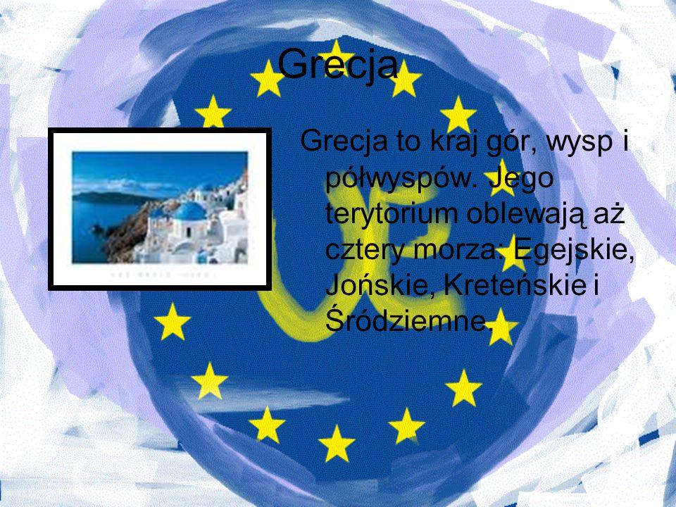 Grecja Grecja to kraj gór, wysp i półwyspów.
