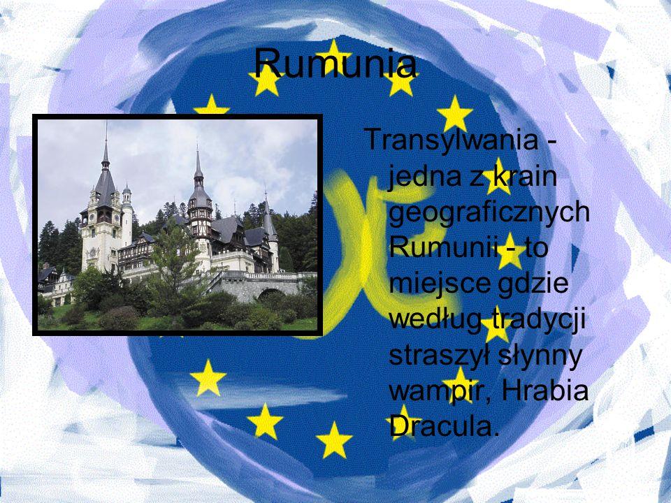 RumuniaTransylwania - jedna z krain geograficznych Rumunii - to miejsce gdzie według tradycji straszył słynny wampir, Hrabia Dracula.