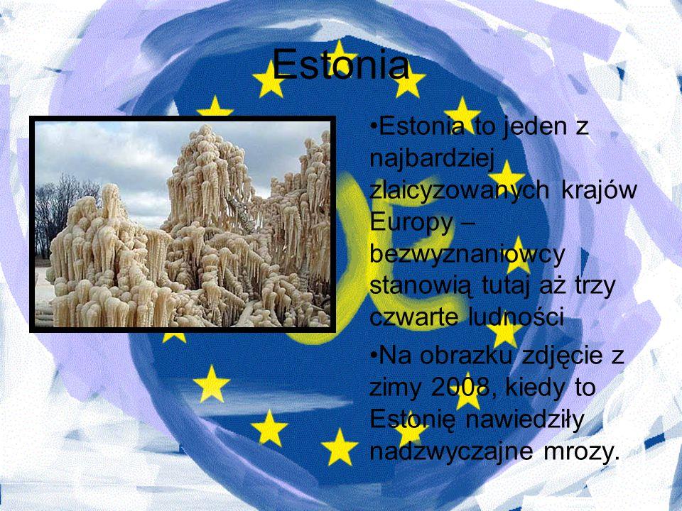EstoniaEstonia to jeden z najbardziej zlaicyzowanych krajów Europy – bezwyznaniowcy stanowią tutaj aż trzy czwarte ludności.