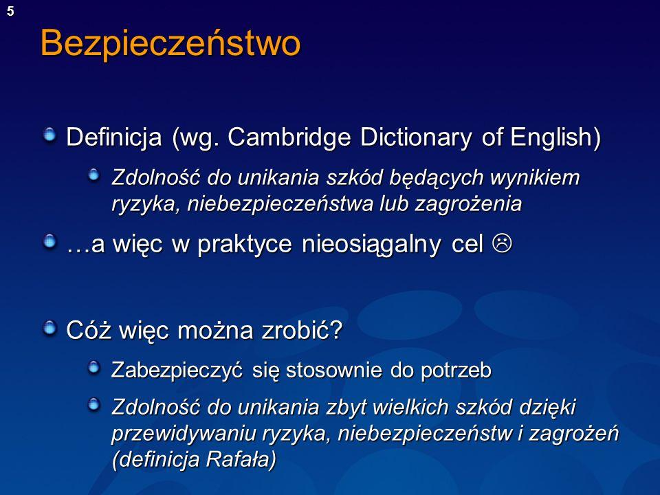 Bezpieczeństwo Definicja (wg. Cambridge Dictionary of English)