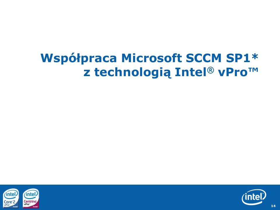 Współpraca Microsoft SCCM SP1* z technologią Intel® vPro™