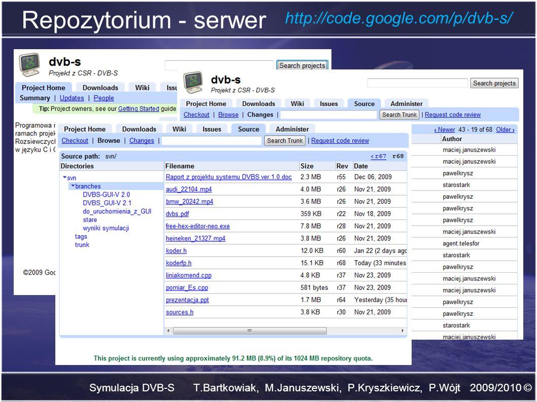 Repozytorium - serwer http://code.google.com/p/dvb-s/