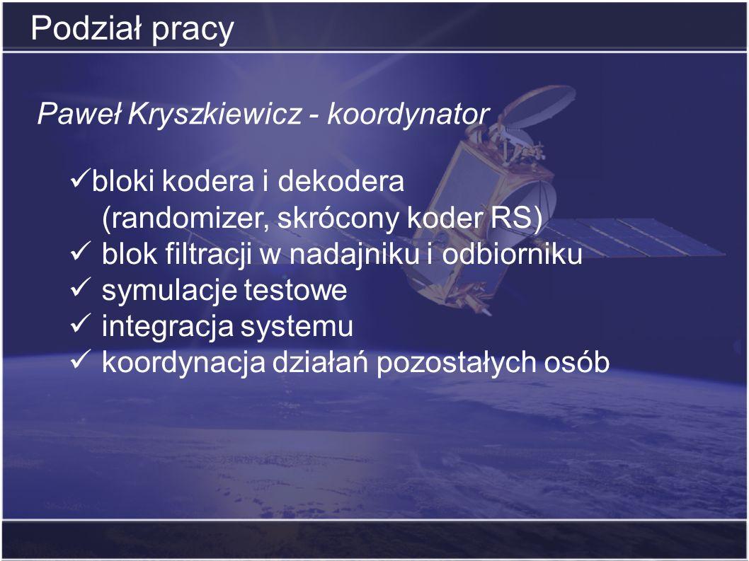 Podział pracy Paweł Kryszkiewicz - koordynator