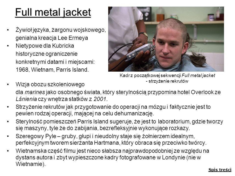 Kadr z początkowej sekwencji Full metal jacket