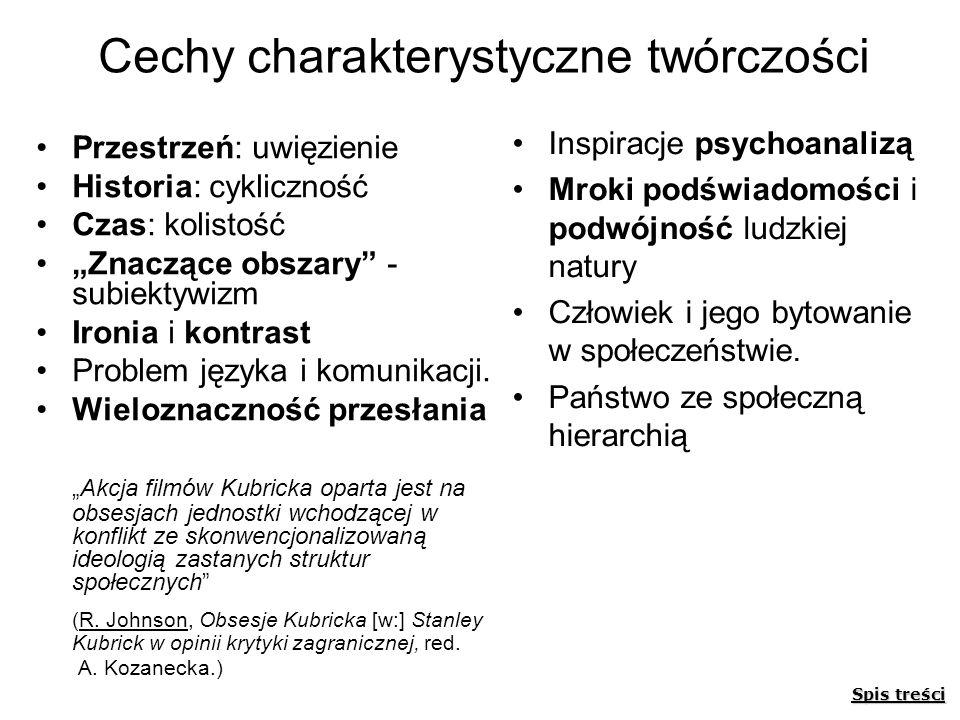 Cechy charakterystyczne twórczości