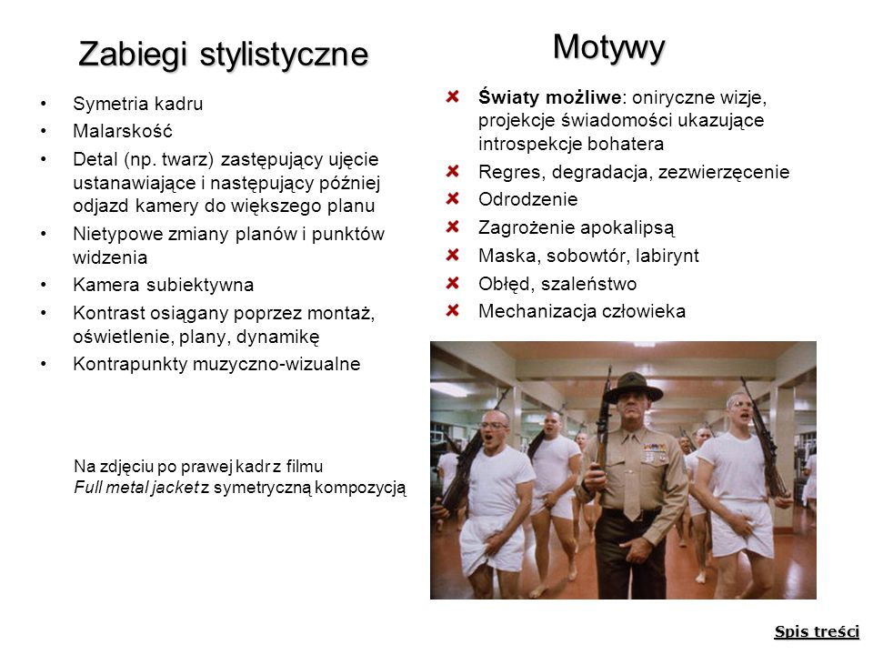 Motywy Zabiegi stylistyczne