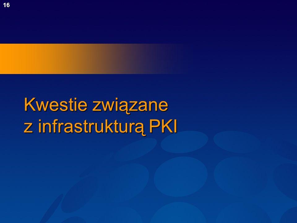 Kwestie związane z infrastrukturą PKI