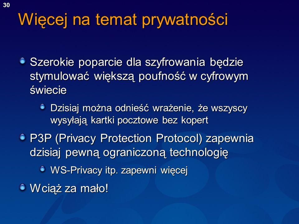 Więcej na temat prywatności