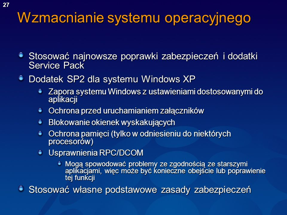 Wzmacnianie systemu operacyjnego