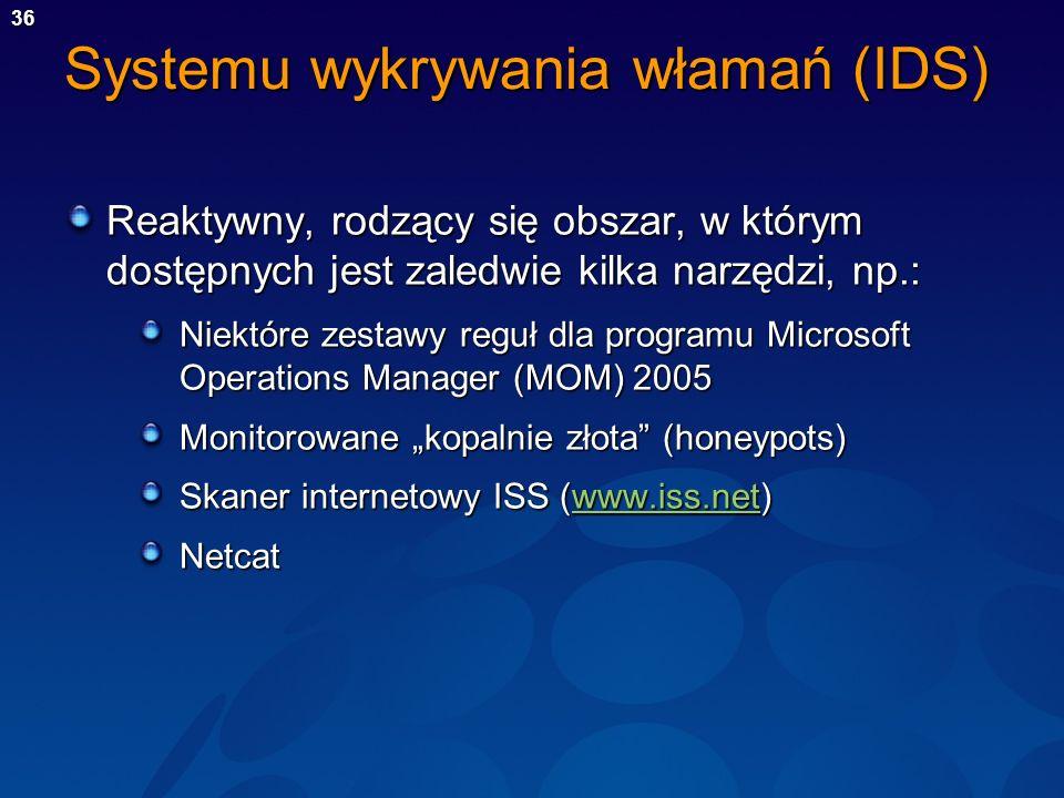 Systemu wykrywania włamań (IDS)
