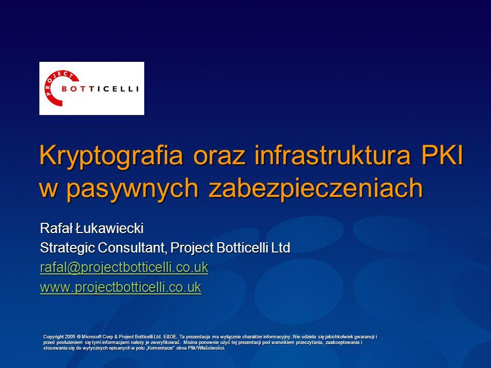 Kryptografia oraz infrastruktura PKI w pasywnych zabezpieczeniach