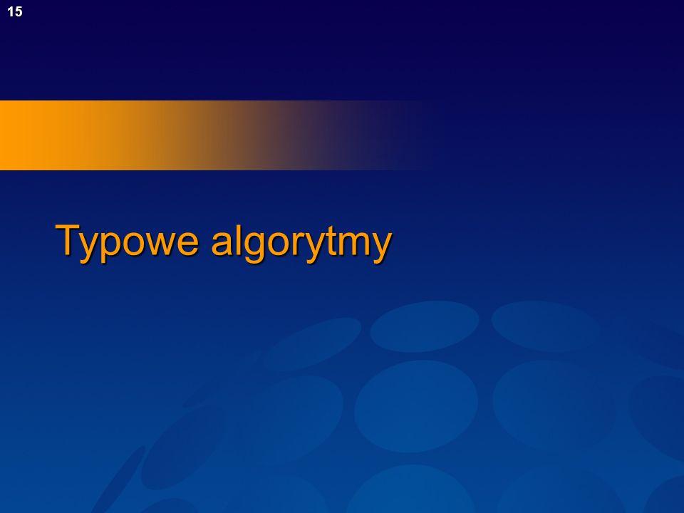 Typowe algorytmy
