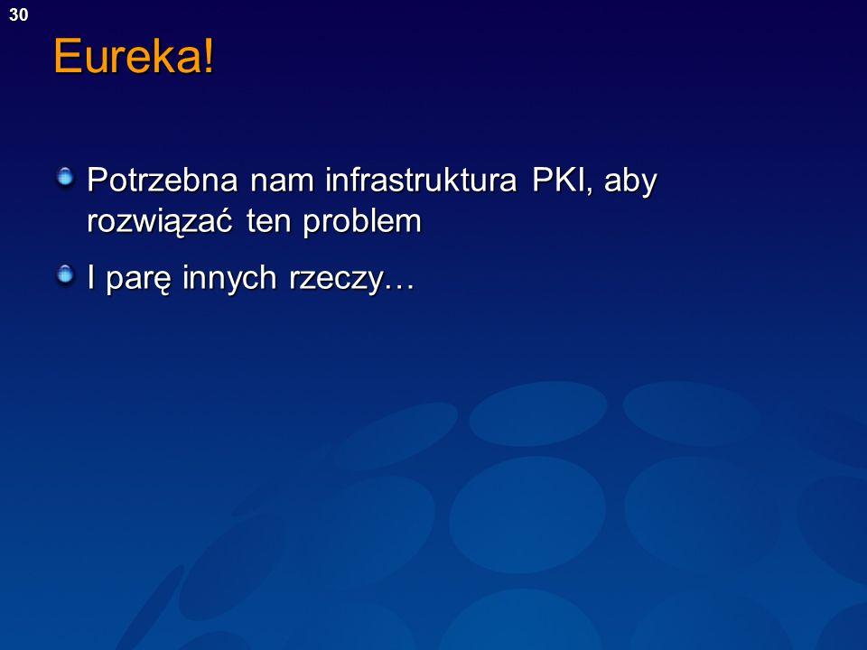 Eureka! Potrzebna nam infrastruktura PKI, aby rozwiązać ten problem
