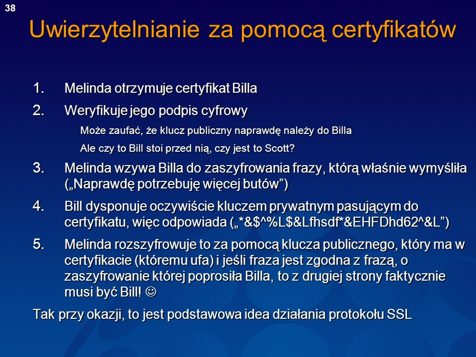 Uwierzytelnianie za pomocą certyfikatów