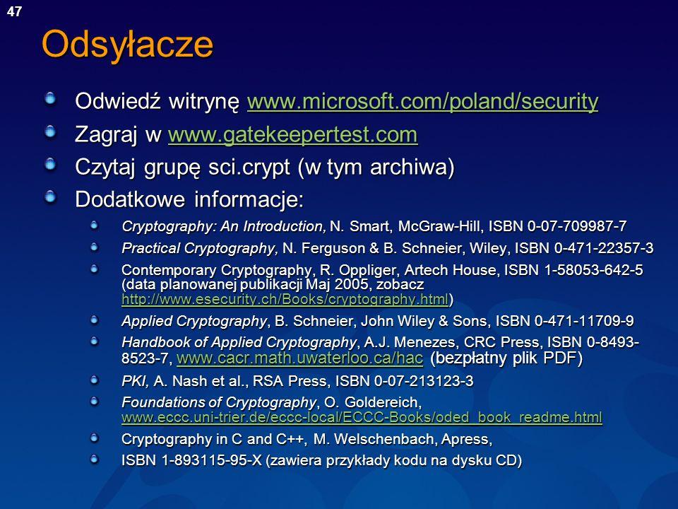 Odsyłacze Odwiedź witrynę www.microsoft.com/poland/security
