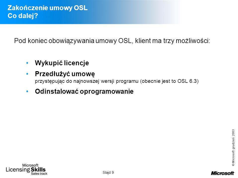 Zakończenie umowy OSL Co dalej