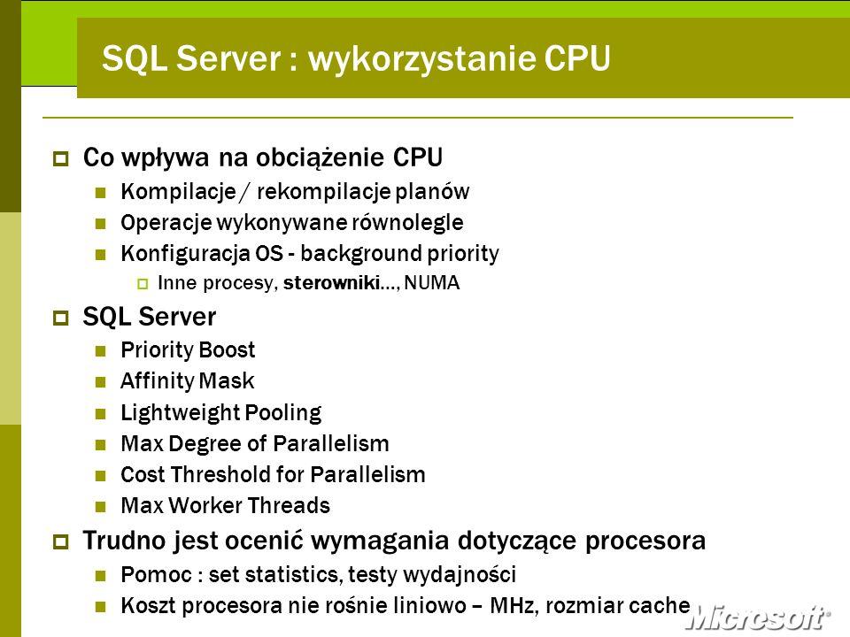 SQL Server : wykorzystanie CPU