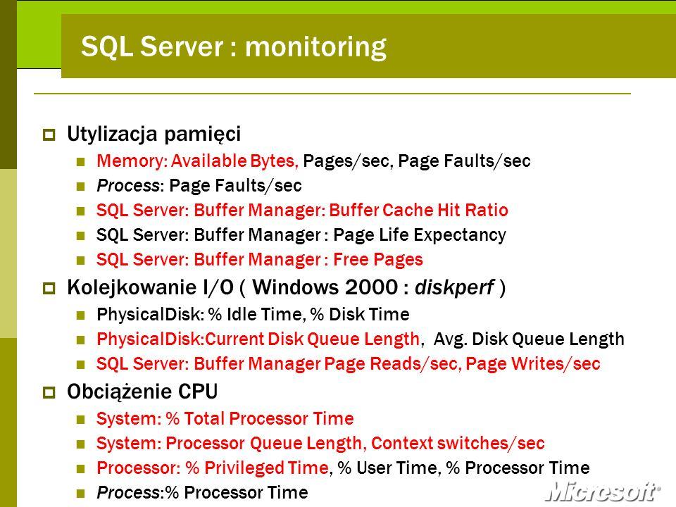 SQL Server : monitoring