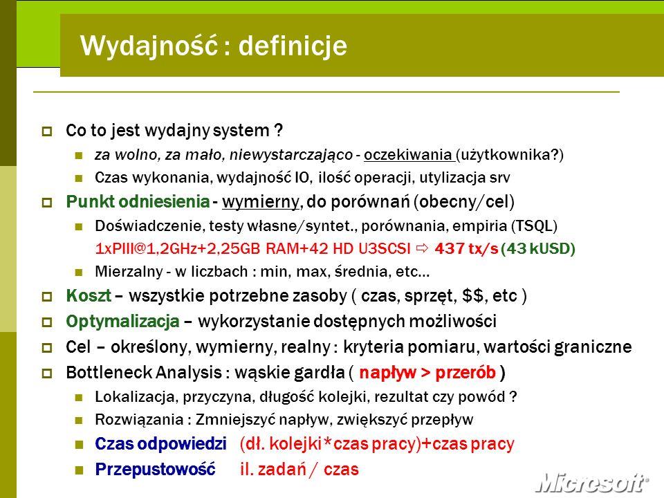 Wydajność : definicje Co to jest wydajny system