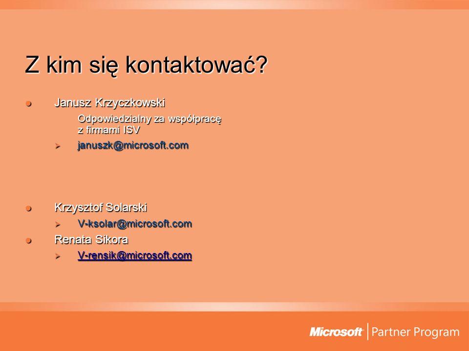 Z kim się kontaktować Janusz Krzyczkowski Krzysztof Solarski