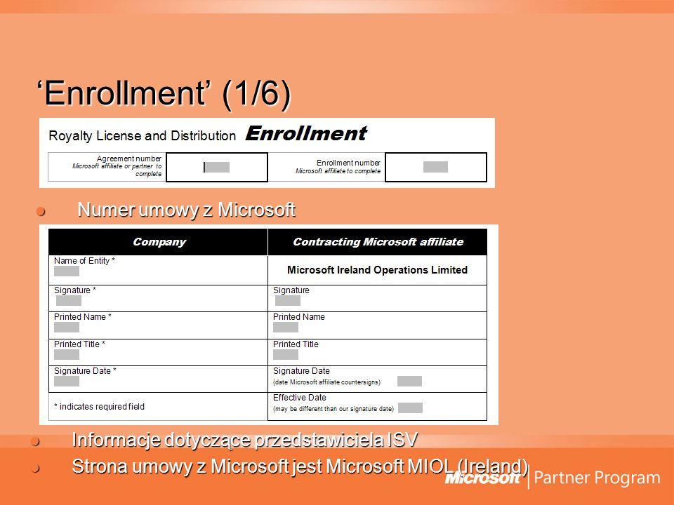 'Enrollment' (1/6) Numer umowy z Microsoft